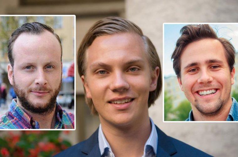 Bild på Christian Carlsson, Tobias Andersson och Benjamin Dousa