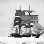 Fartyg på väg till Sydpolen 1912.