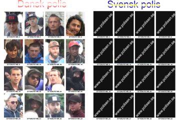 Dansk polis tillåter spridning Svensk polis hänvisar till polisen.se
