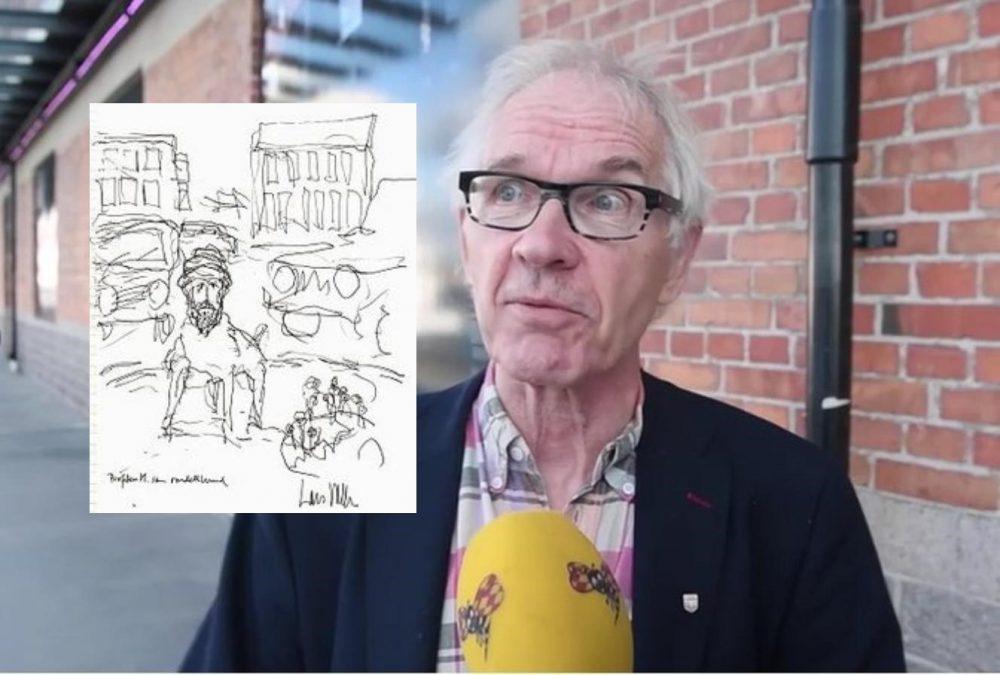 Lars Vilks rondellhund inkuppad på Fotografiska - Samtiden